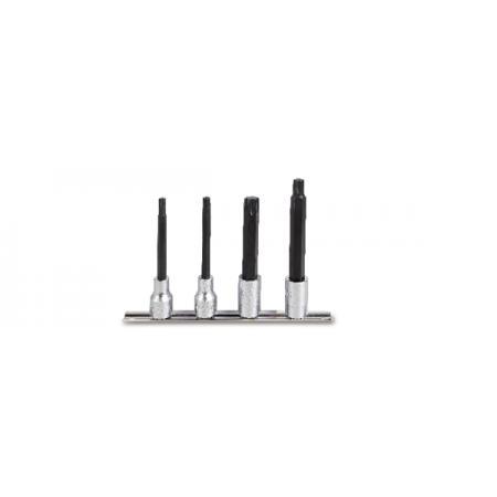 ?sada 4 adaptérů pro nástrčné klíče pro šrouby s hlavou Torx®, dlouhé (položka 920TX/L)  na držáku
