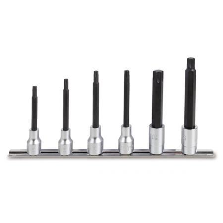 ?sada 6 adaptérů pro nástrčné klíče pro šrouby s hlavou Torx®, dlouhé (položka 920TX/L)  na držáku