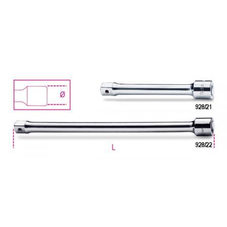 """prodlužovací tyče s 3/4"""" adaptérem"""