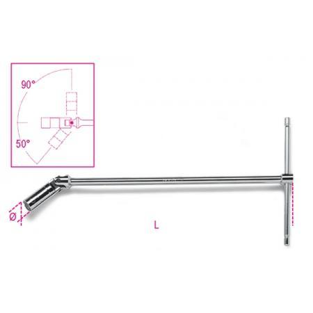 klíče na zapalovací svíčky s rukojetí tvaru T  s otočnými objímkami, standardní řada