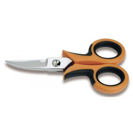 nůžky pro elektrikáře, zakřivené břity