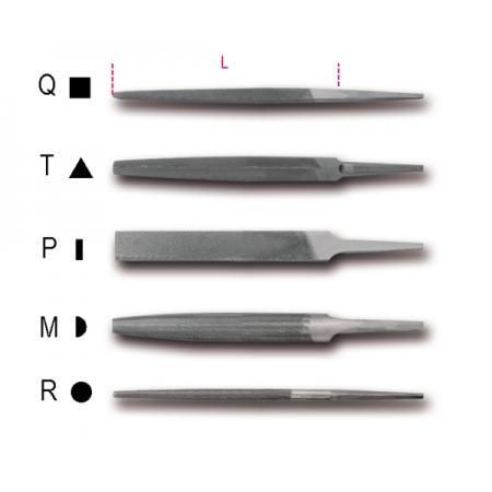 """6"""" pilníky s druhým sekem bez rukojetí"""