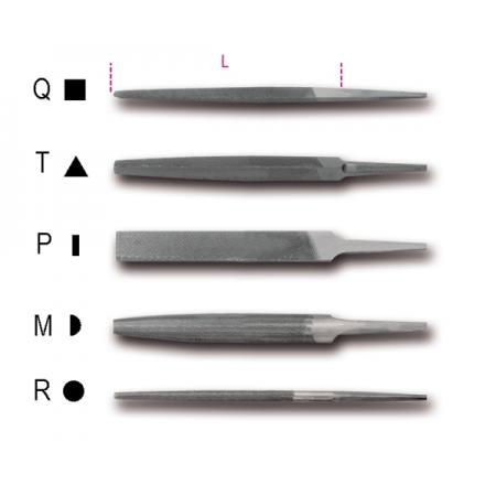 "6"" pilníky s polohrubým sekem bez rukojetí"