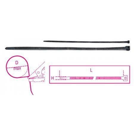 nylonové kabelové spony, samopojistné hlavy
