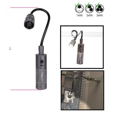 magnetická, kloubová lampa s vysokou LED svítivostí, svítivost až 400 lumenů