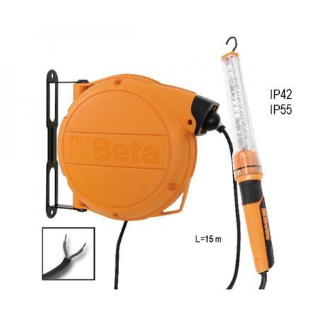 automatický kabelový buben  s LED kontrolní lampou 24 VAC