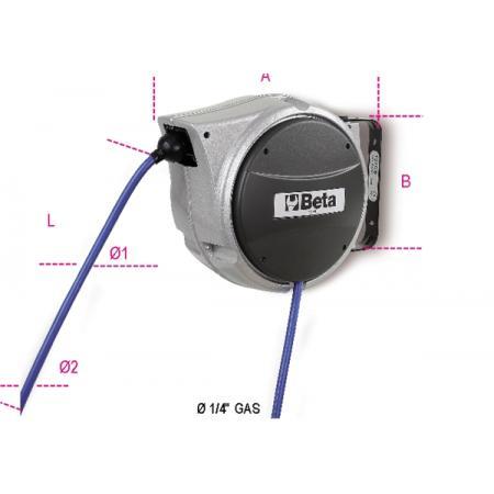 automatický naviják na hadice hliníkové tělo, pro stlačený vzduch, nebo studenou vodu