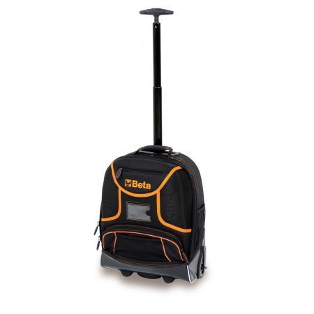 batoh na nářadí, vyrobený z technické tkaniny, s kolečky, prázdný
