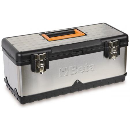 krabice na nářadí,  vyrobeno z nerezové oceli a plastu,  vyjímatelná přihrádka