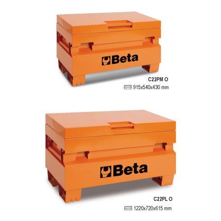 kufr na nástroje pro staveniště, vyrobený z plechu