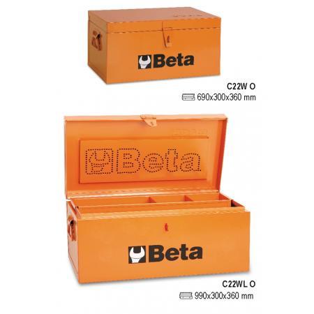 kufry na nářadí, vyrobené z kovového plechu, obložené dřevem pro zvýšenou ochranu nástrojů