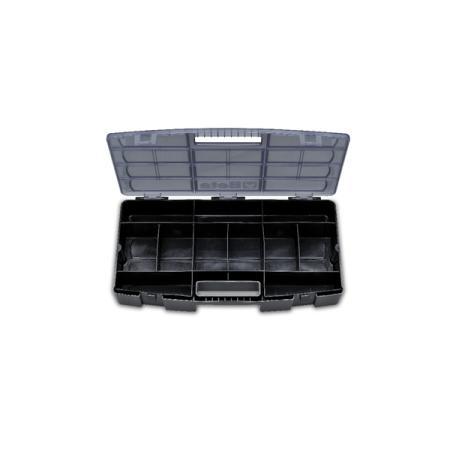 skříňka na nářadí  s vyjímatelnými přepážkami pro malé nástroje,  vyrobeno z plastového materiálu