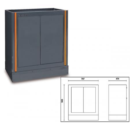 pevný dvoudveřový modul, pro kombinaci nábytku pro autodílnu
