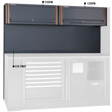 panel na nářadí se závěsnými skříňkami, pro kombinaci nábytku pro autodílnu