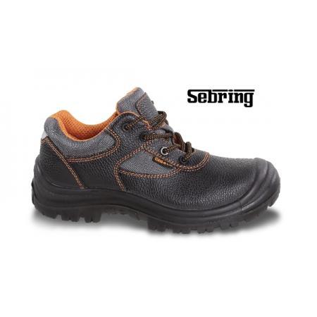 kožená bota, vodotěsná, s nylonovými vložkami, vyztužená polyuretanová špička a refrakční patní vložka