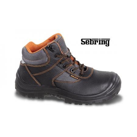 kožená kotníková bota, vodotěsná, s nylonovými vložkami, systém rychlého rozpínání, vyztužená polyuretanová špička  a refrakční patní vložka