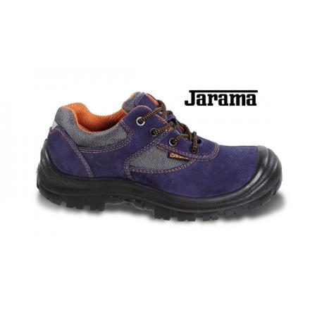 velurová bota, perforovaná, s nylonovými vložkami, vyztužená polyuretanová špička a refrakční patní vložka