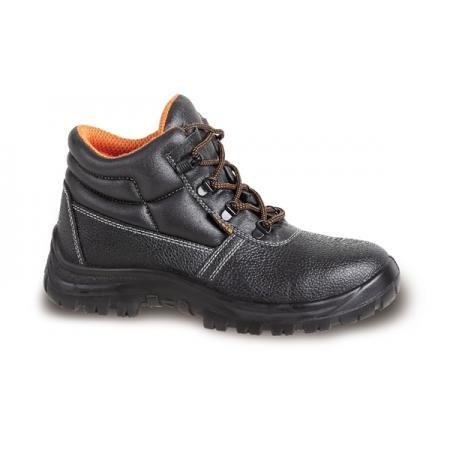 kotníková bota z přírodní kůže,  se stélkou odolnou proti penetraci a systémem rychlého otevírání
