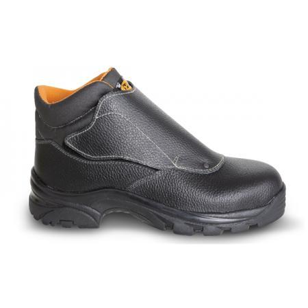 """šněrovací bota z přírodní kůže, styl """"welder"""", vodotěsná, se systémem rychlého otevírání a pryžovou podešví"""