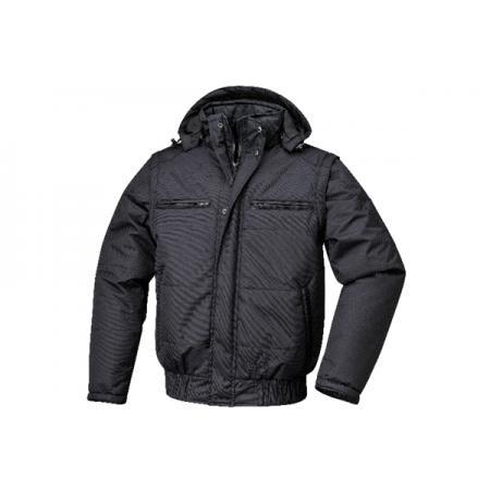 anorak, vodotěsný, polštářovaný, s podšívkou, s odnímatelnou kapucí a rukávy