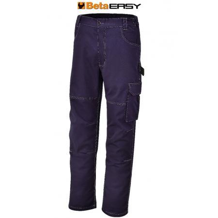pracovní kalhoty, T/C krep, 245 g/m2, modré