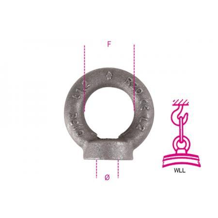 matice závěsných ok, DIN 582 jednobarevné