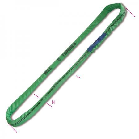 kulaté smyčky, zelené 2 t pás z vysoce pevného polyesteru (PES)
