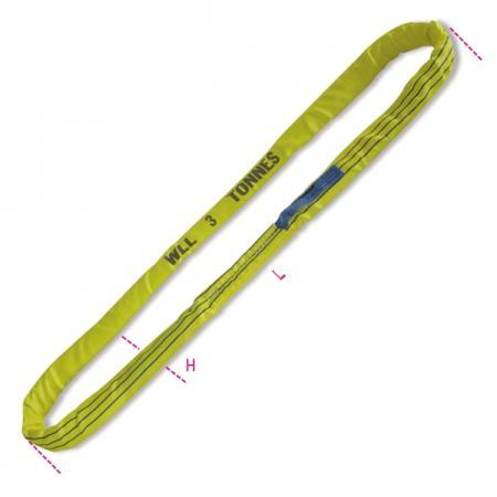 kulaté smyčky, žluté 3 t pás z vysoce pevného polyesteru (PES)