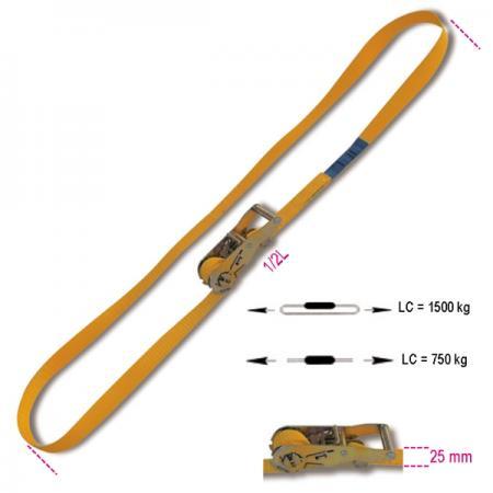 upnutí s kruhovou ráčnou, LC 1500 kg pás z vysoce pevného polyesteru (PES)