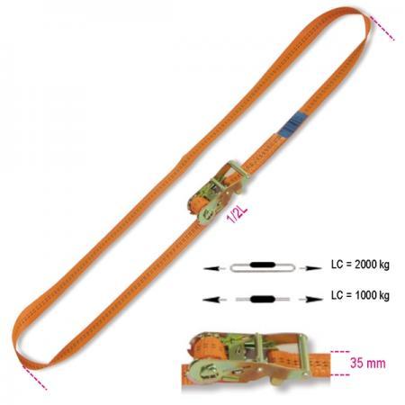 upnutí s kruhovou ráčnou, LC 2000 kg pás z vysoce pevného polyesteru (PES)