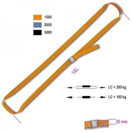 popruhy s přezkou, LC 200 kg, pás z vysoce kvalitního polypropylenu (PP)