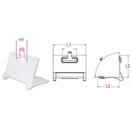 2 úhlové chrániče  pro polyesterové pásy
