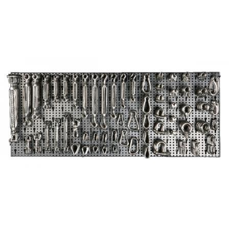 sada 551 doplňků drátěných lan, NEREZOVÁ OCEL, s háky bez panelu