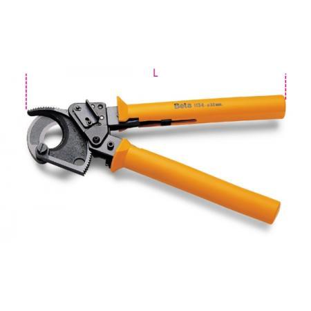 řehtačkové nože na kabely s lesklou úpravou,  plastové rukojeti
