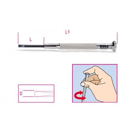 sada 6 mikrošroubováků na drážkované šrouby bez hlavy (položka 1229LP) v pouzdře