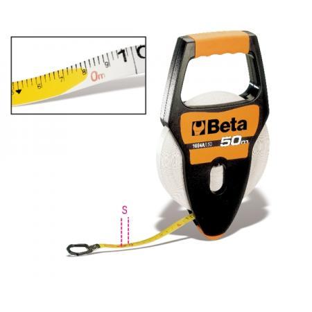 páskové metry s rukojetí, pouzdra z ABS odolná proti nárazům, sklolaminátové pásky s vrstvou PVC, třída přesnosti III
