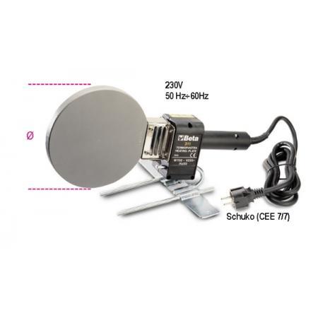 topné desky pro ruční rovné  a šikmé svařování trubek z PE, PP,  PVC a PVDF