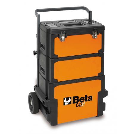 vozík na nářadí s třemi moduly