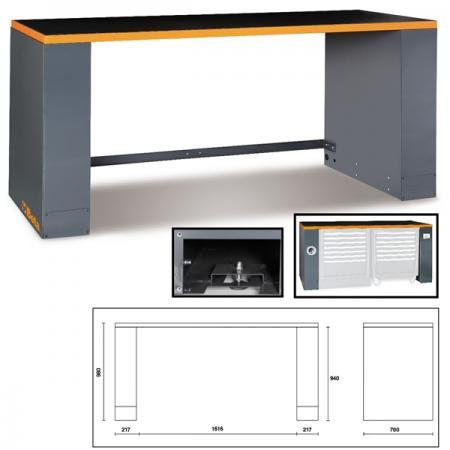 plechová lavice, pro kombinaci nábytku pro autodílnu