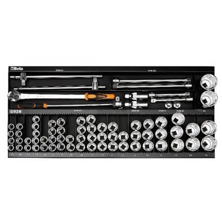 souprava 92 nástrojů,  s háky bez panelu