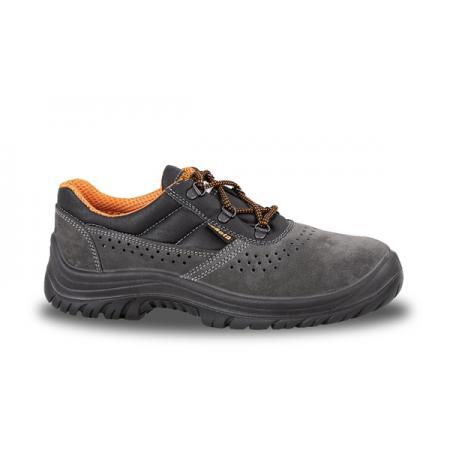 velurová bota, perforovaná