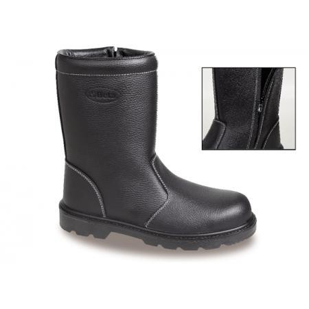 bota z přírodní kůže, vodotěsná, se zipem