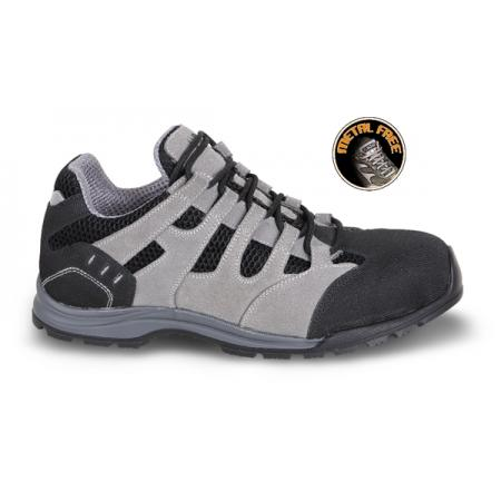 velurová bota se síťkovými vložkami,  pryžovou podešví a měkkou PU obrubou