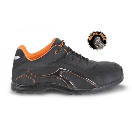 bota vyrobená z nubukové neupravené usně, vodotěsná  s pryžovou podešví a měkkou PU obrubou