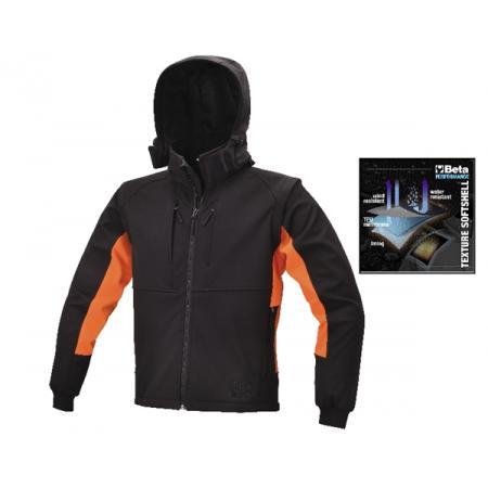 softshellová blůza s odnímatelnou kapucí a rukávy