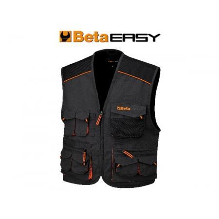 pracovní bunda bez rukávů, styl s více kapsami, v celtovině T/C, 260 g/m2, vložky Oxford, šedé