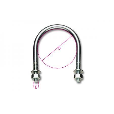 šrouby tvaru U pro trubky, lehký typ,  pozinkováno