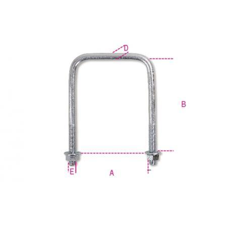 šrouby tvaru U s čtyřhrannou hlavou, žárově pozinkováno