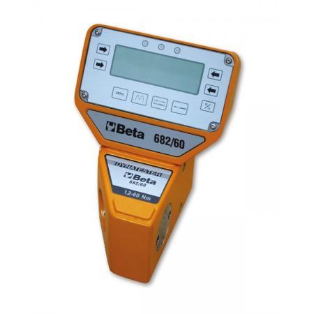 elektronický digitální měřič momentu  se snímačem Dynatester 682  k použití buď po směru,  nebo proti směru hodinových ručiček Významná přesnost měření  K dodání se sériovým výstupem RS 232  pro tiskárny